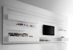 Flexible Rotating TV Stand and Wall Unit by MDF Italia images