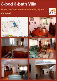 3-bed 3-bath Villa in Pinar De Campoverde, Alicante, Spain ►€209,995 #PropertyForSaleInSpain