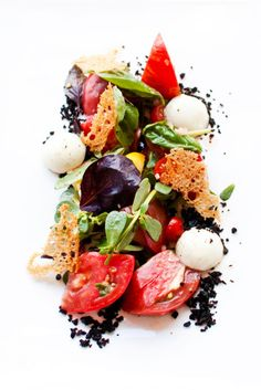 Deconstructed Mediterranean Salad (via Mr. Harris Tweed)