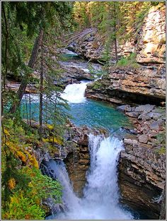 Johnson Canyon Falls, Banff Canada