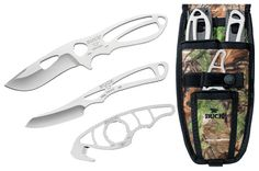 Every avid hunter knows how important it is to be armed with good knives during a hunting trip. A good hunting knife should not only help you easily skin and cut up game but should also be durable, lightweight and very convenient to carry around. TheBuck Knives 0141VP PackLite Field Master Knife Kit with Skinner, Caper and Guthook Blades and a Combo Sheathcomes with some of the most durable and reliable hunting knives on the market.The kit contains three different knives: theCaper, a…