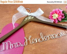 20% OFF SALE Engraved Wedding Hanger by OriginalBridalHanger  $23.99 On Sale Now!  Your special day is coming. You have your lovely wedding dress picked out. Now you needed a beautiful bride hanger to display it on. #originalbridalhanger creates lovely wedding dress hangers. They are wonderful bridal shower gifts too. Even great holiday gift as well!  Click here: originalbridalhanger.etsy.com to see more!