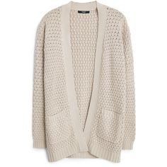 Side Pockets Cardigan (€14) ❤ liked on Polyvore featuring tops, cardigans, outerwear, sweaters, jackets, pink long sleeve top, chunky cable knit cardigan, pink cable knit cardigan, mango tops and pink cardigan