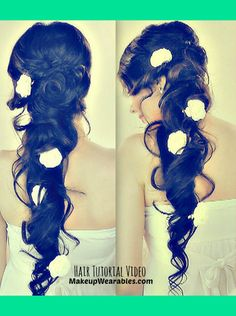 Cascading, Side-Swept Princess Hairstyle | Hair Tutorial Video | Tina - MakeupWearables L.'s (makeupwearables) Photo | Beautylish
