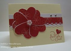 Card using the Heart Punch- includes instructions