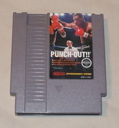 Mike Tyson's Punch-Out!! Nintendo NES 1987 cleaned tested works Polished Pins