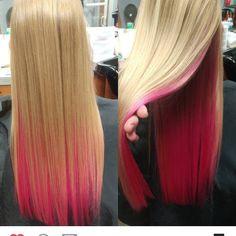 Pink under blonde