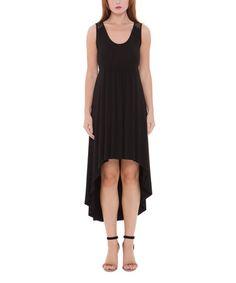 Love this Black Adele Hi-Low Dress on #zulily! #zulilyfinds