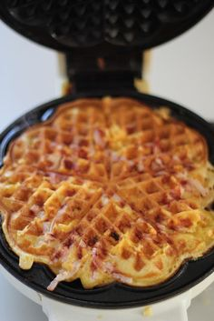 Ham and cheese waffles. This is my second time seeing these so I have to make them, right?