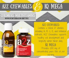 A2Z Chewables and IQ Mega Children's Multivitamins. **Order your own doTERRA Essential Oils here: www.mydoterra.com/brittdye