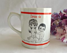 Love Is ... Mug  By Kim 1972 by TreasureCoveAlly on Etsy