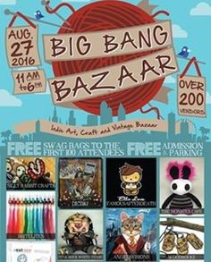 I mentioned this on Monday but now it's Friday so here's a reminder Tomorrow if you're in the Orlando area come on down to the @bigbangbazaar! HaldeCraft is sharing a booth with the awesomely rad @knitatthebar and there are 200 vendors total! Big Bang Bazaar will be at the Central Florida Fairgrounds & Exposition Park (4603 W Colonial Dr Orlando FL 32808) on Saturday August 27th 2016 from open 11am  6pm. See you tomorrow?