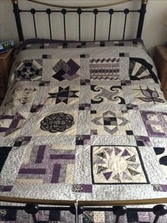 Large sampler quilt using Downton Abbey fabric from Makower