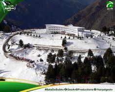14 most Beautiful places in Pakistan  Malam Jabba  Malam Jabba (also Maalam Jabba, Urdu: مالم جبہ) is a Hill Station in the Karakoram mountain range nearly 40 km from Saidu Sharif in Swat Valley, Khyber Pakhtunkhwa, Pakistan. It is 314 km from Islamabad and 51 km from Saidu Sharif Airport.  #BataDoSabKo #GeoaurJeenayDo #HarPal #Geo #Pakistanzindabad #14aug