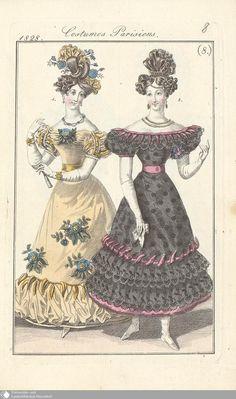 17 - (8.) Costumes Parisiens. - Petit courrier des dames - Seite - Digitale Sammlungen - Digitale Sammlungen
