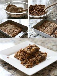 Barras de granola caseras