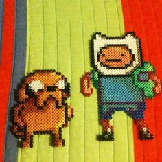 Perler bead Adventure Time Jack and Finn characters