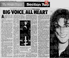 """Laura 1988 & Singapore """"The Straits Times""""."""