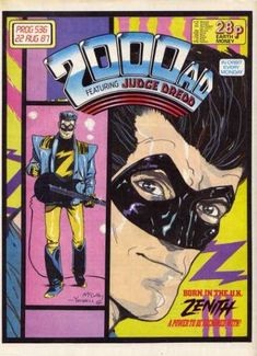 """He's not a TV star! Zenith is the product of the British military and confiscated Nazi technology. The quality went pffft as the name went on, and Z became a pop star instead of a superhero. Written by Grant Morrison (""""JLA""""), bloke!"""