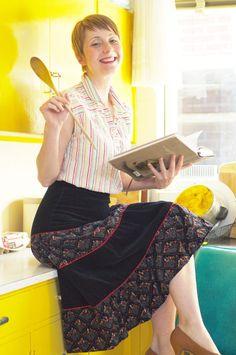 Black Velvet Gypsy Folk Skirt Vintage by PalePixie on Etsy, $50.00
