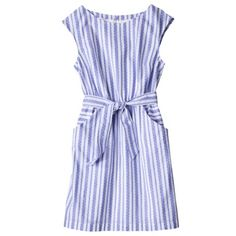 Merona® Womens Cap Sleeve Dress -Blue Stripe at TARGET. I never get here that often but this dress may do the trick!