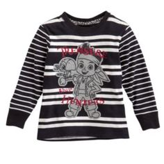 """Disney Jake and the Never Land Pirates """"Treasure Hunters"""" Striped Tee by Jumping Beans - Toddler  $10"""