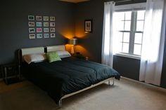 Love the blueish / grey walls  #home #decor #bedroom
