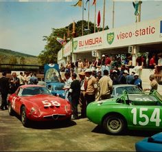 Revs Digital Library: Targa Florio 1965 Left to right: Race Number 58, Scuderia Etna (entrant), Race Number 154, British Motor Corporation