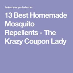 13 Best Homemade Mosquito Repellents - The Krazy Coupon Lady