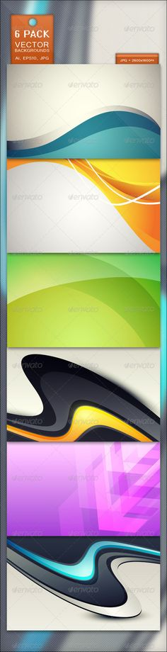 6 Pack - Vector Backgrounds