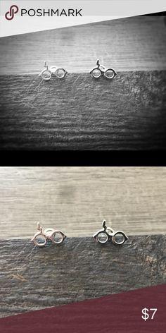 Lighting Bolt Earrings / Harry Potter Silver Plated Bolt Lighting Earrings / Harry Potter Glasses Jewelry Earrings