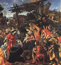 'le adoration de l' mages' de Paolo Uccello (1397-1475, Italy)