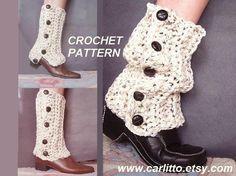 CROCHET Pattern 109 Long or Short SPATS legwarmers by Carlitto