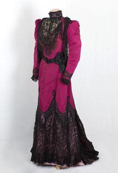 Worth beaded silk faille dress, c.1890