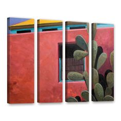Adobe Color by Rick Kersten 4 Piece Gallery-Wrapped Canvas Set