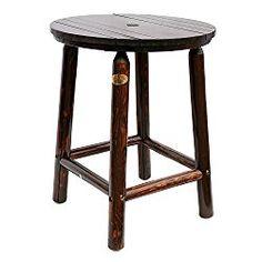 Songsen Log Wood Bar Table & Chair Set Outdoor Barstool Retro Style Bar Furniture (Single Table)