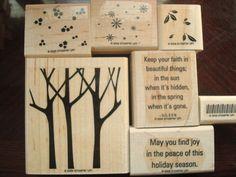 Stampin Up Trees Three (bidding on ebay!)