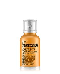 Peter Thomas Roth  The Camu Camu Berry is a potent superfruit from the Amazon that provides 30 times more Vitamin C per ounce than an average orange. This highly concentrated Vitamin C helps brighten, smooth, firm and improve the appearance of uneven skin tone, fine lines and wrinkles.