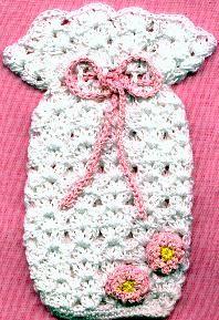 LACY SOAP SACHET - free crochet pattern
