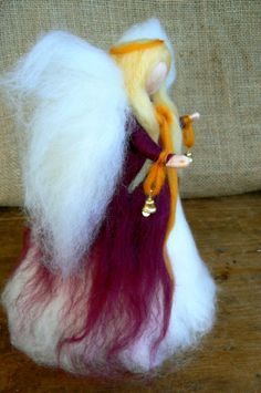 Needle felted Angel Christmas Tree Topper by CloudBerryCrafts, $63.00