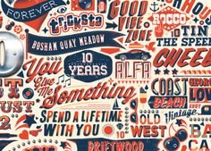 Ahoy There| Artists' work | Central Illustration Agency, Ross Craford Typography, Lettering, Illustrators, Cursive, Drawings, Graphic Design, Artists, Digital, Letterpress