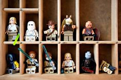 store lego guys in type set drawer/tray.  i HAVE one of these!  great idea!