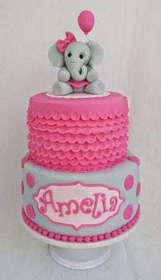 New baby shower cake elephant theme ideas Baby Cakes, Baby Shower Cakes, Tortas Baby Shower Niña, Gateau Baby Shower, Elephant Baby Shower Cake, Elephant Birthday, Elephant Theme, Girl Cakes, Baby Elephant