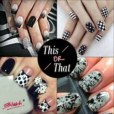 Pastels may come and go, but monochrome is here to stay!  Which of these chic nail arts would you love to flaunt?!