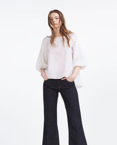 Image 1 of BLOUSE WITH FULL SLEEVES from Zara
