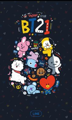 Bts Wallpaper Lyrics, Lines Wallpaper, Cute Wallpaper For Phone, Cute Wallpaper Backgrounds, Galaxy Wallpaper, Bts Aesthetic Pictures, Bts Drawings, Line Friends, Bts Chibi