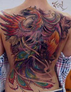 Beautiful dragon #Tattoo on entire back
