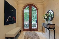 Front door - extra high, iron, glass - South Rosedale Mansion – $8,399,000  20 cluny