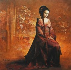 """""""I bring you with reverent hands The books of my numberless dreams."""" ~W.B. Yeats, The Wind Among the Reeds Artist~Tian Xiaoping 田 小平"""