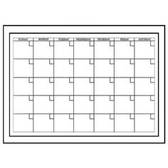 A month of style. Eco-friendly and sleek, the White Monthly Planner is the perfect way to keep organized. This dry-erase monthly calendar is easy to apply – just position, peel and stick it onto your wall. Removable, repositionable and reusable, it is a true triple threat. It leaves no sticky residue and is safe for walls. Best of all, it comes with a dry-erase marker so you're ready to go, right out of the box.